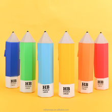 Languo candy color custom plastic silicone pencil case