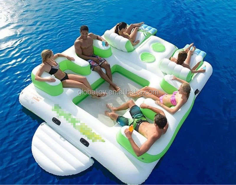 New Giant 6 Person Inflatable floating Island in stock!!!