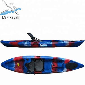 LSF 12ft sit on top wholesale single plastic boat and cheap fishing kayak for sale