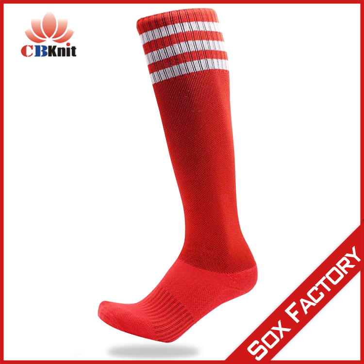 oem wholesale 3 stripes nylon cotton ankle support soccer socks for kids