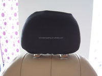polyester car headrest cover universal with transparent opening