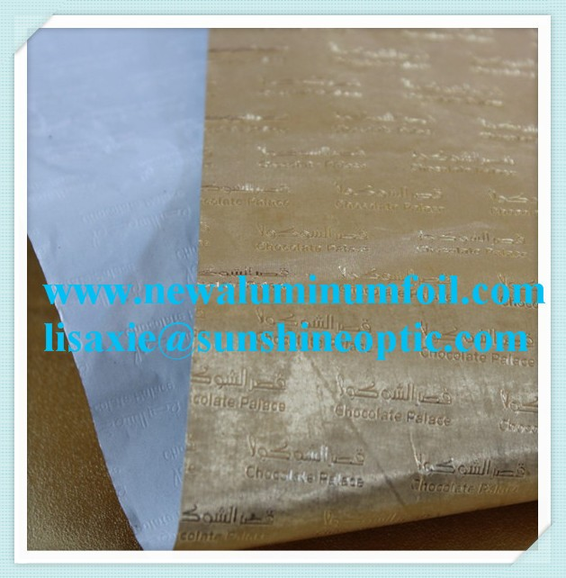 aluminum foil candy foil / chocolate wrapping foil sheet / colored foil sheet