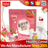 Health chewable freeze drying fruit milk oat cereal drink