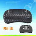 High quality Rii Mini I8 2.4G Wireless Mini Backlit Keyboard With Touchpad For Smart Tv