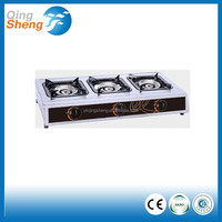 indoor tempered glass table top gas stove 3 burner gas cooker