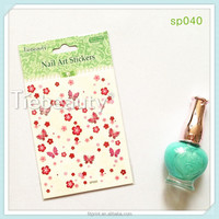 Colourful flower design packing nail sticker