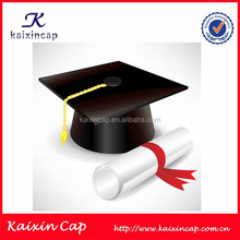 Black Customized Graduation Hat With Embroidery