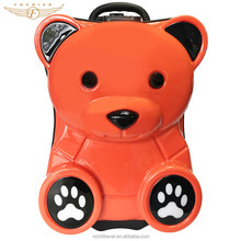 Cute Bear Animal Shape ABS PC Hard Kids Trolley Bags for Kids