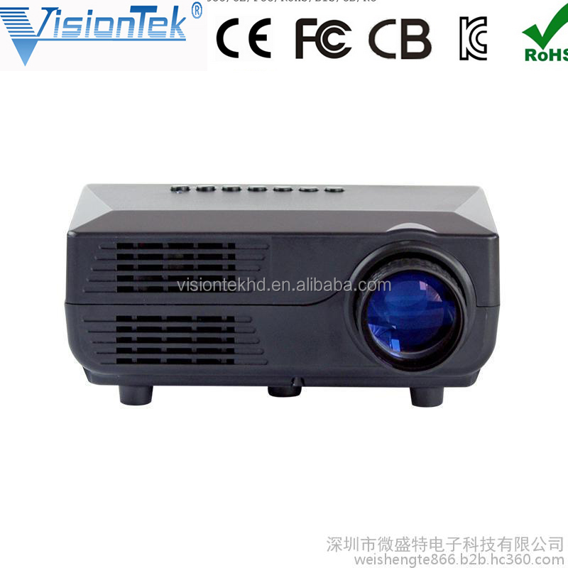 2016 Smartphone projector Low cost portable projector with 200lumens mini lcd projector