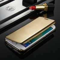 Luxury smart flip mirror cover for samsung galaxy S6 case