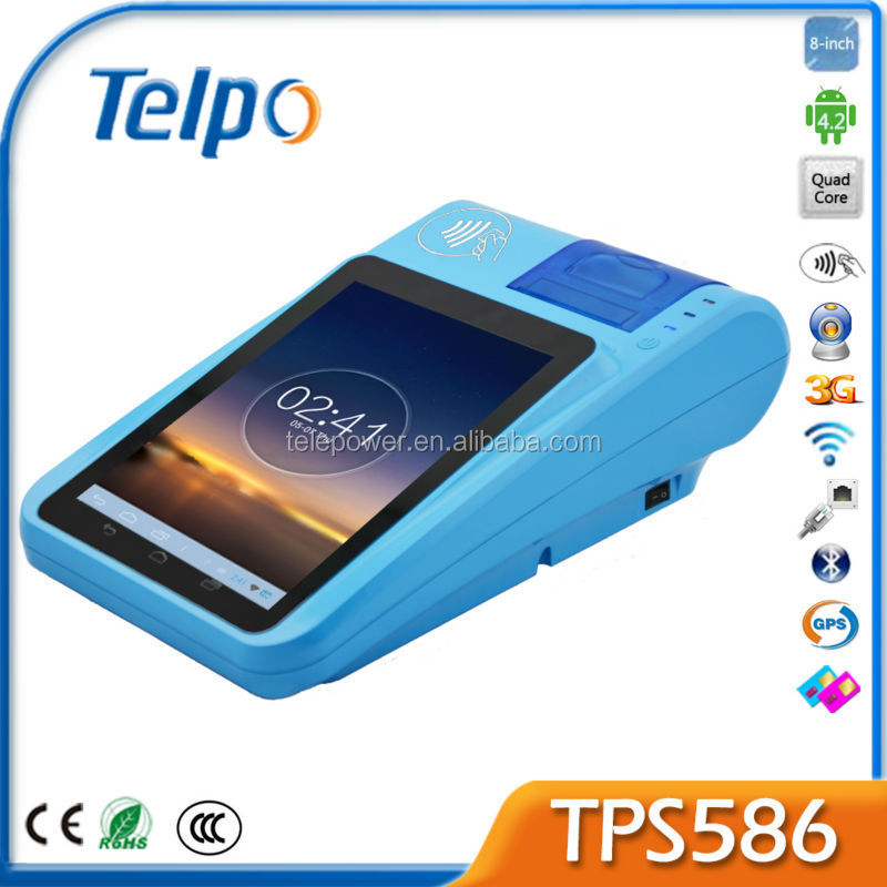 Telpo Hot sale New PAndriod Pos TPS586 GPS GSM RFID PDA Mobile Data Terminal Android Phone