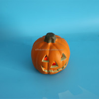 china supplier new cheap solar plastic halloween pumpkin light, LED pumpkin light, light toy for halloween party