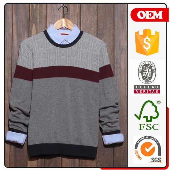 knit/crochet clothing men sweather from direct factory