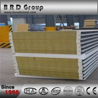 low cost new innovative garage rock wool sandwich wall panel