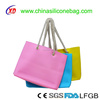 2017 Hot Sell Women Waterproof Silicone Shoulder Shopping Bags, Lady's Silicone Beach Bags
