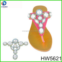 HW5621 The beautiful stone fancy metal women's shoe ornaments shoe buckle for lady sandal
