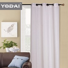 Eyelet style with jacquard fabric curtains double layer sheer curtains