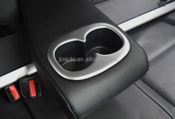 car accessories ABS Chrome Car rear seat cup holder water cup holder cup stander decoration trim for Mitsubishi Outlander parts