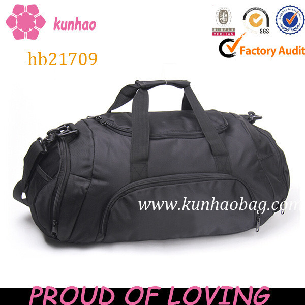Gym sports bag with shoe compartment manufacturer