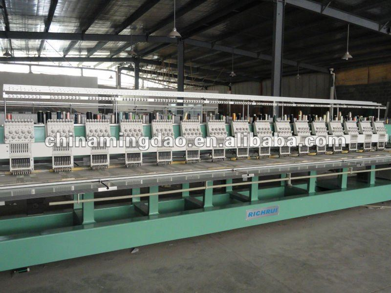 15 heads digital embroidery machine