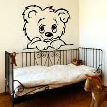 YA035 Large Nursery Baby Teddy Bear Wall Mural Giant ART Poster Decoration Vinyl Stickers For Kids