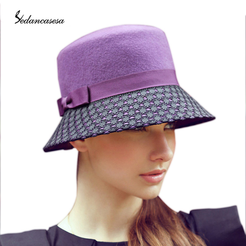 Buy 100% Wool From Australian Cloche Fedora Hat For Women Felting Hat Dots  Purple Basin Hat Fedora Hats For Ladies FW097007 in Cheap Price on  m.alibaba.com e037c484b8d