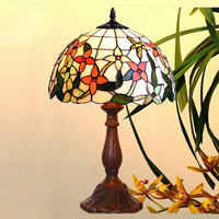 "12""W European style Tiffany Hummingbird Table lamps, Art Tiffany desk lamp Tiffany stained glass lamp"