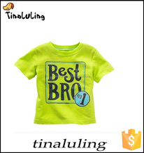 fashion wholesale children t shirt 100% cotton t-shirts manufacturers t-shirts with best bro print