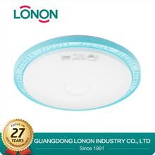 plastic cover surface mount led aluminum round modern ceiling light