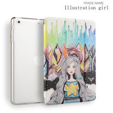 Printed Rotary Leather customized Lightweight Smart Shell pu leather color printed Joy color tablet case for Ipad mini 123