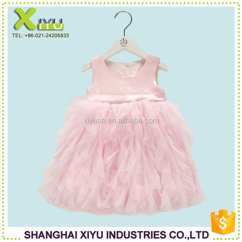 Factory Direct China manufacture birthday dress for baby girl