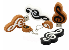 Novelty Design PVC Music Note USB Clef USB Flash Drive