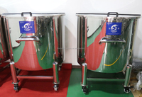 stainless steel diesel storage skid tank top type, convenient movable