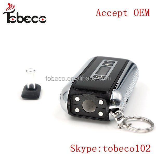 2017 newest car key dry herb vaporizer , Tobeco authentic LED display dry herb vaporizer