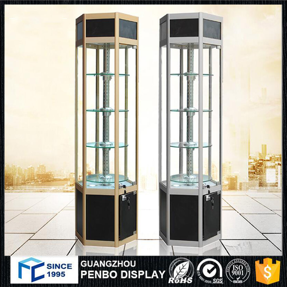 Functional shopping mall kiosk sunglass display stand for optical shop interior design