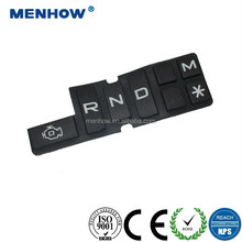 conductive carbon pill rubber keypads transparent silicone rubber membrane keypad silicone button