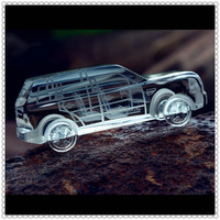 Antique 3D Crystal Model Cars For VIP Gifts