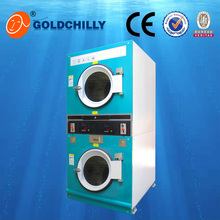 laundry automatic double-deck commercial washing machine and gas dryer (CE, ISO9001)