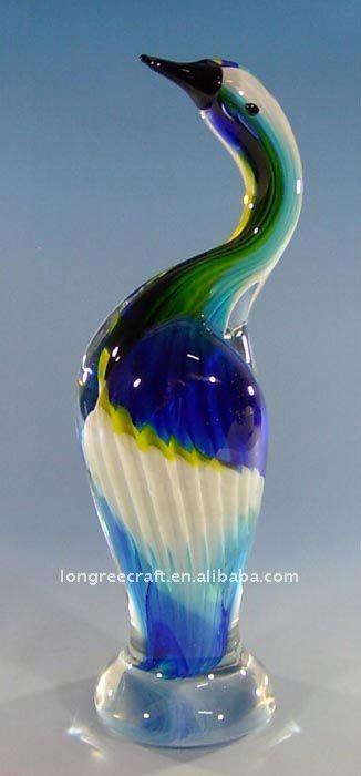 Hand Blown Glass Home Decoration Bird Design -LRT178