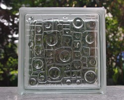 Clear Hollow decorative glass block for bathroom,building