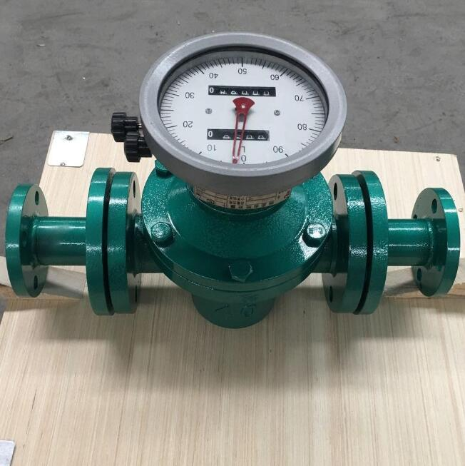 Gravity Positive displacement Oval Gear Mechanical Flowmeter