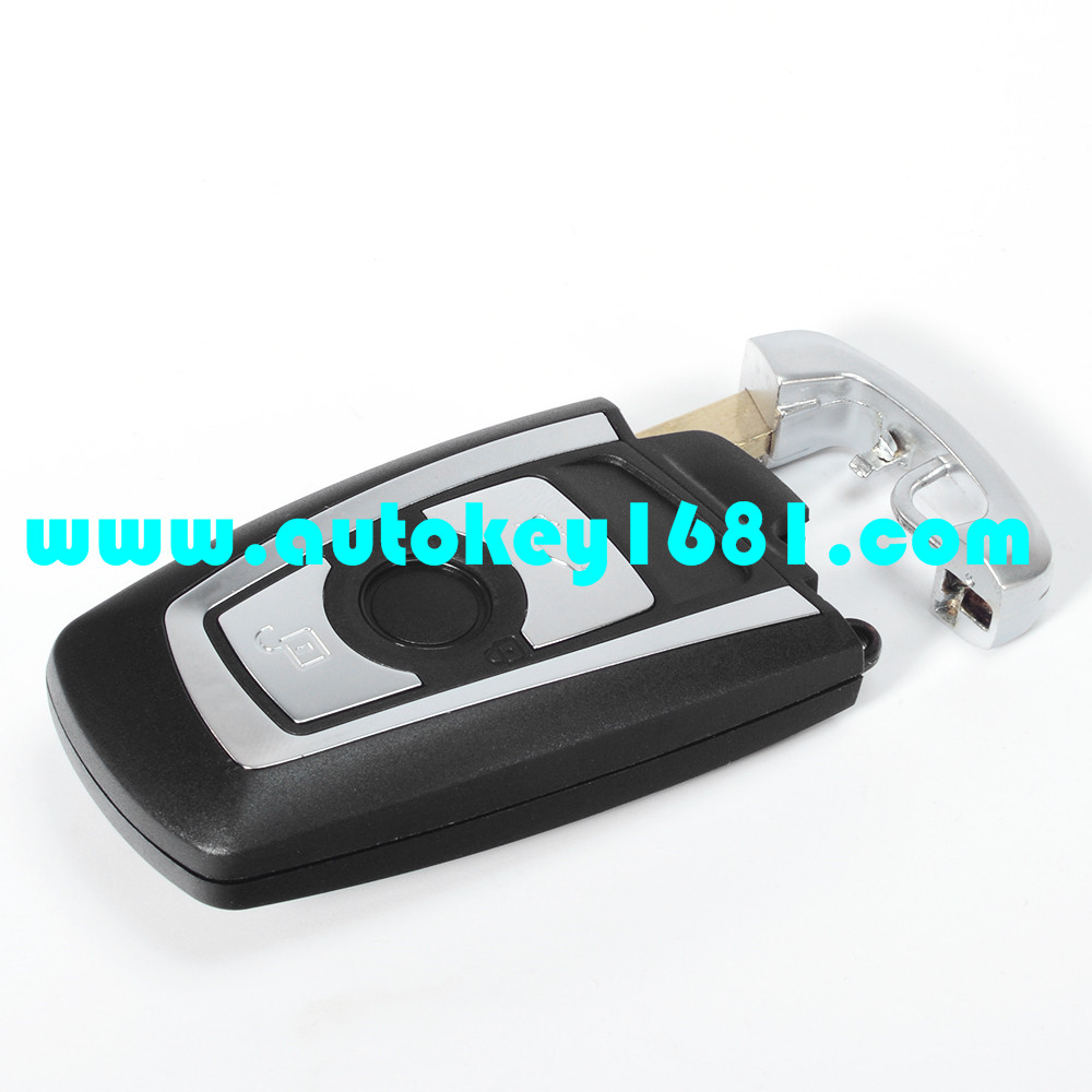 MS car key shell 3 button replacement key case smart card key shell for bmw with uncut blade