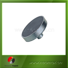 black epoxy coated inside screw pot magnet