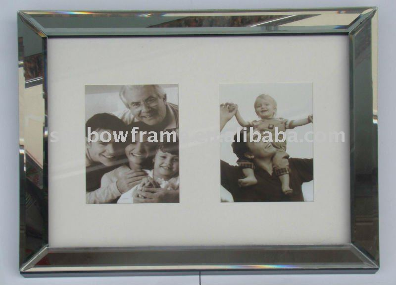 whole sale high quality favourite glass photo frame with two opening
