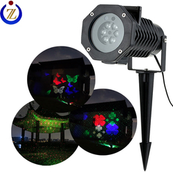 RGB laser firefly+LED RGBW 4 colors projector 2 in 1 lights