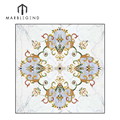 Free design Polished Square Waterjet Marble tile inlay Flooring Medallion