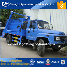 chinese lowest price small diesel 140hp 4x2 container hydraulic roll-off garbage truck