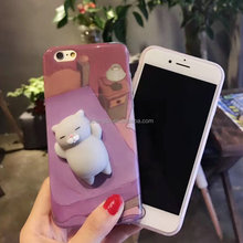 Chinese Manufacturer of Finger Pinch 3D Kneading Squishy custom design free sample mobile cell phone case