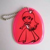 hi vis reflective PVC key chain hanger for bag / keychains purse hanger