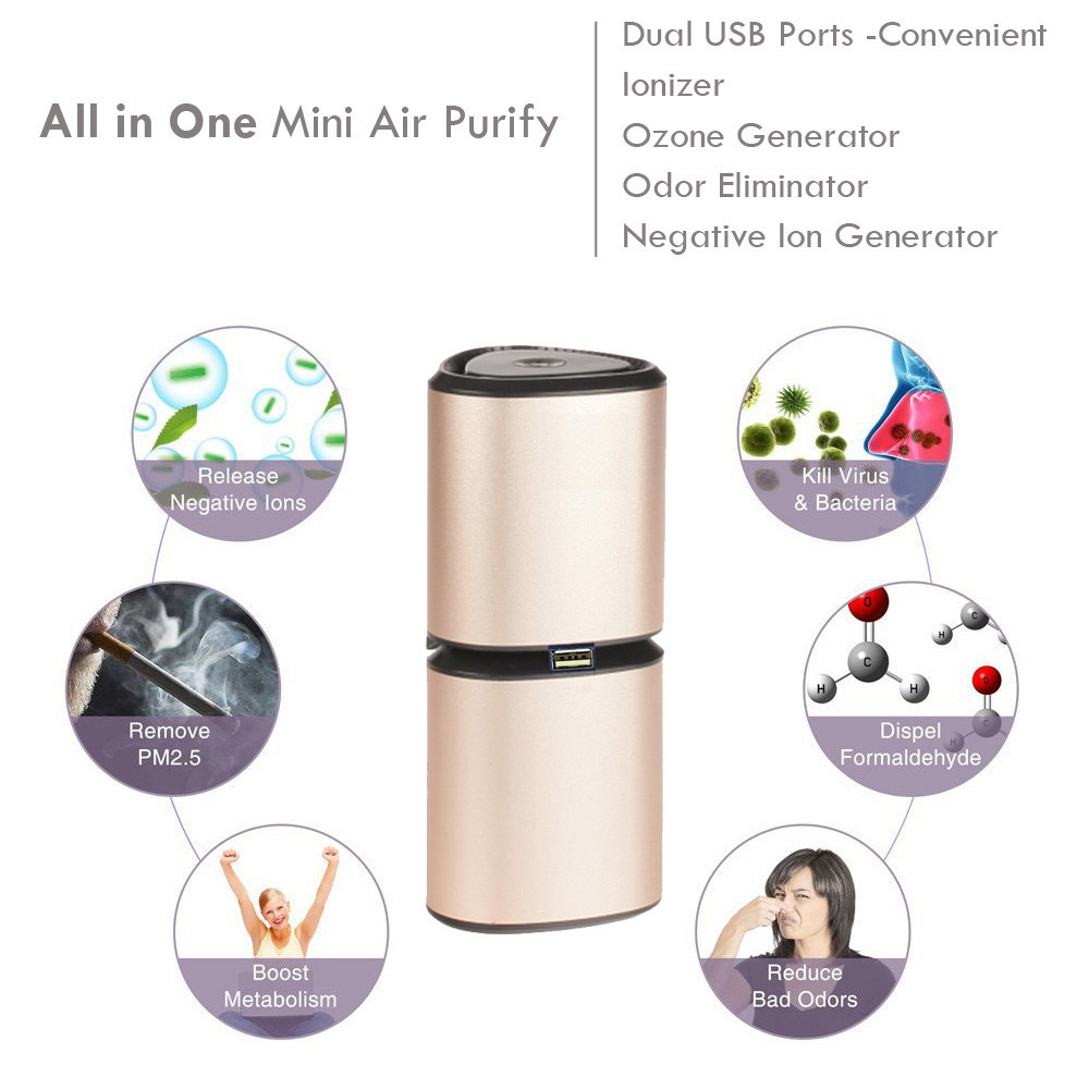 New Pretty Outdoor Personal Smart Diamond Toilet Ionic Air Purifier